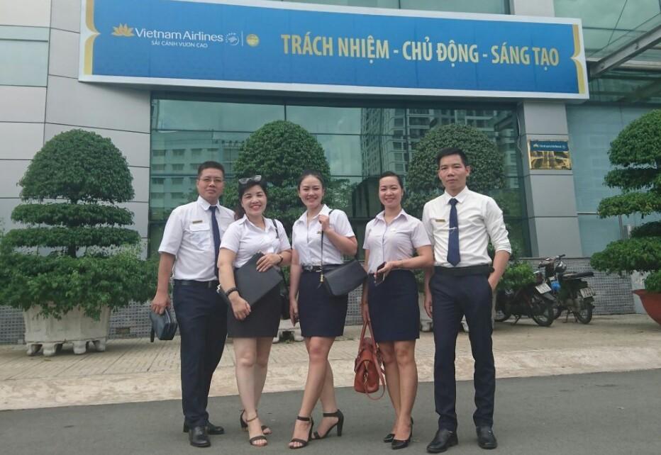 TTrung tâm Đào tạo VNAS thăm và làm việc tại Trung tâm Huấn luyện Bay Vietnam Airline - Đơn vị liên kết đào tạo