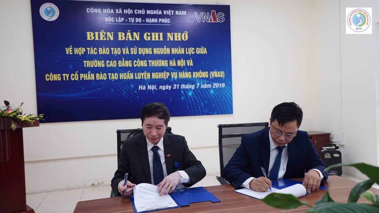 TVNAS ký kết Biên Bản ghi nhớ hợp tác đào tạo và sử dụng nguồn nhân lực với Trường Cao đẳng Công thương Hà Nội