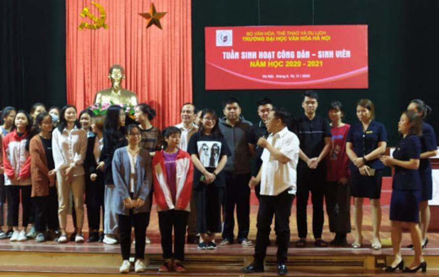 TVNAS tham dự buổi sinh hoạt công dân - sinh viên năm học (2020-2021) tại Trường Đại học Văn hóa Hà Nội