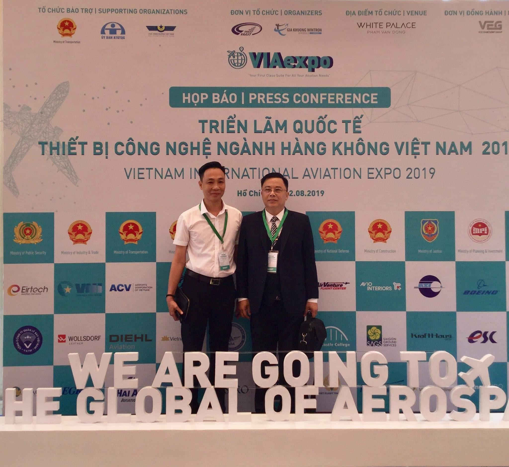 TVNAS tham dự Họp báo Triển lãm quốc tế Thiết bị công nghệ ngành hàng không Việt Nam 2019
