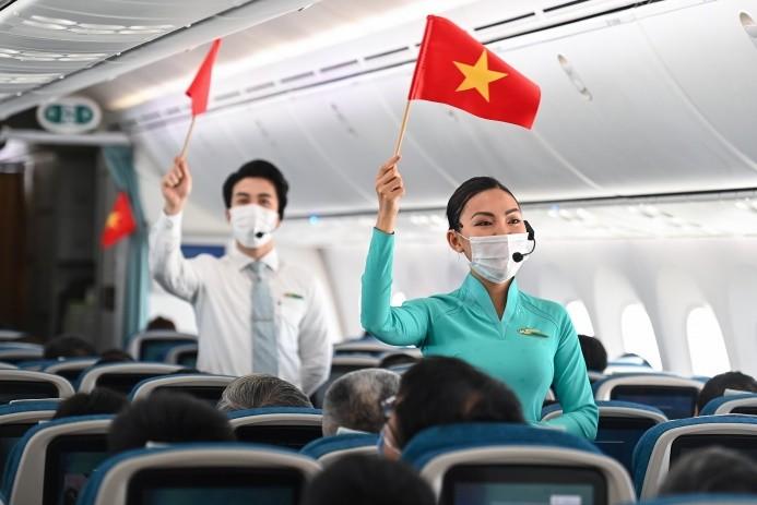 TTưng bừng kỷ niệm ngày 30/4 trên các chuyến bay của Vietnam Airlines