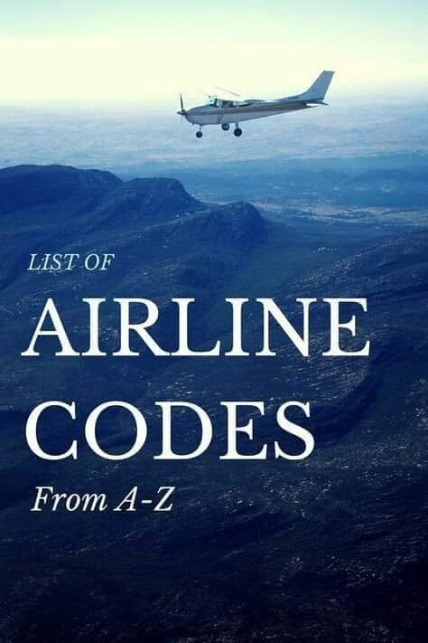 List of Airline Codes