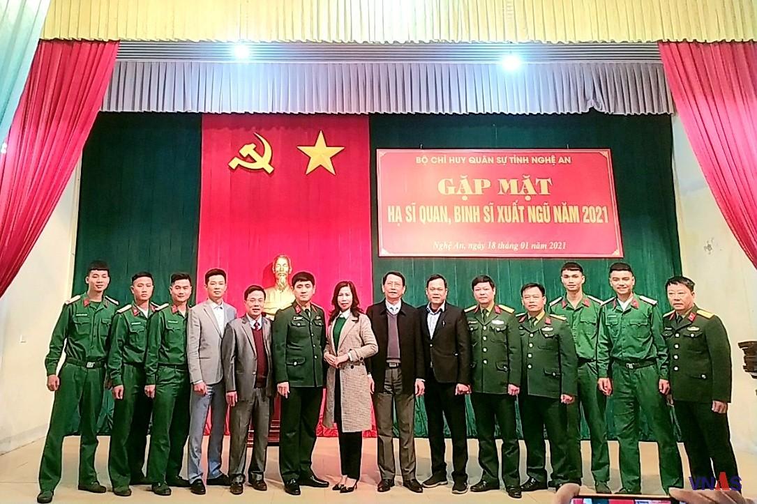 TVNAS tham dự Chương trình gặp mặt và tư vấn, hướng nghiệp giới thiệu việc làm cho quân nhân xuất ngũ tỉnh Nghệ An