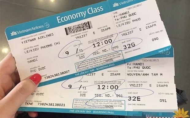 Tất tần tật về thông tin trên vé máy bay